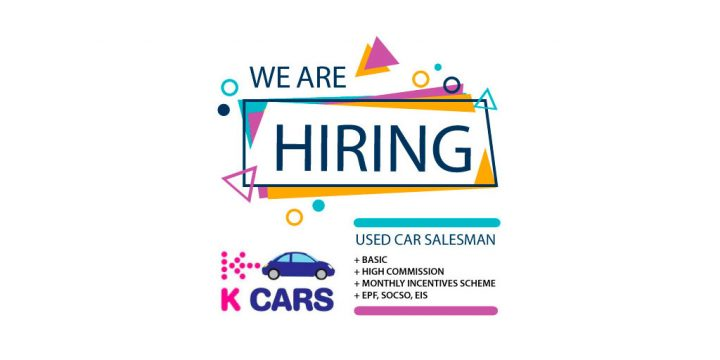 Used Car Salesman Wanted @ K CARS AUTO SDN BHD